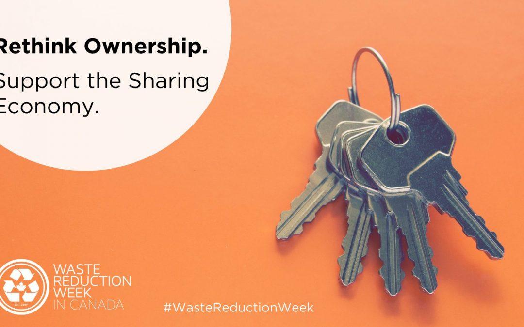 2021 Waste Reduction Week: Sharing Economy